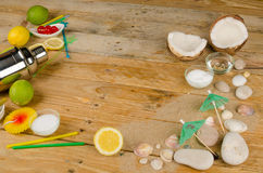 Summer party table still life stock images