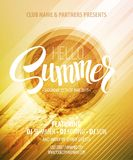 Summer party. Template poster. Vector illustration Stock Photography