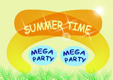 Summer party vector flyer Royalty Free Stock Photos