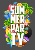 Summer Partyl poster design Royalty Free Stock Photography