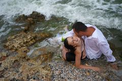 Summer passion (lovers portrait) Stock Images