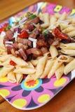 Summer pasta salad stock photos