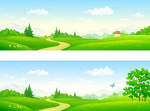 Summer path banners Royalty Free Stock Photography