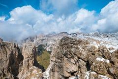 Path to Sella Ronda Dolomites Italy Royalty Free Stock Photography