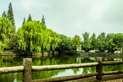 Summer Path and Waterways of Shucheng China royalty free stock images