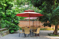 Summer Patio Royalty Free Stock Photos