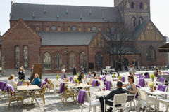 Summer patio alongside to Dome Cathedral Stock Photography
