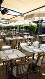 Summer patio of Cafe de Pari Stock Photography