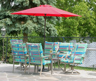 Summer Patio Set Stock Image