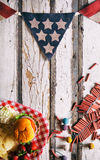Summer: Patriotic Picnic Party Summertime Background Royalty Free Stock Images