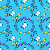 Summer pattern with butterflies Royalty Free Stock Images