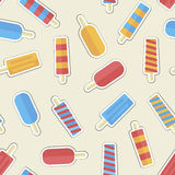 Summer pattern ice creame Royalty Free Stock Photo