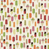 Summer pattern ice creame Royalty Free Stock Images