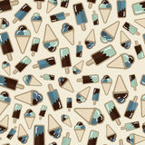 Summer pattern ice creame Stock Images