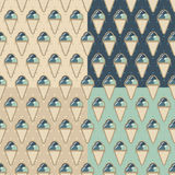 Summer pattern ice creame Royalty Free Stock Photography