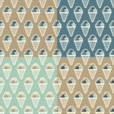 Summer pattern ice creame Stock Photography