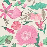 Summer Pattern in Pale Colors Stock Images