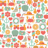 Summer pattern Royalty Free Stock Photos