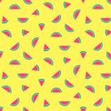 Summer pattern tropical watermelon yellow royalty free illustration