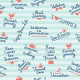 Summer pattern Royalty Free Stock Images