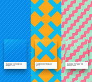 Summer patterns 010-012. Set of Trendy Seamless simple Geometric color Pattern backgrounds Stock Image