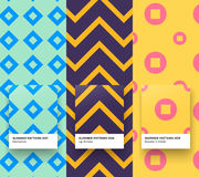 Summer patterns 007-009. Set of Trendy Seamless simple Geometric Pattern backgrounds Royalty Free Stock Photos