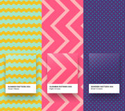 Summer patterns 004-006. Set of Trendy Seamless vector Geometric Patterns Royalty Free Stock Images