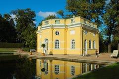 Summer pavilion of 18 century. Russia, St.Petersburg, Tsarskoye Selo. Pushkin (Tsarskoye Selo) near St.Petersburg. Catherine Park. Upper Bathhouse - summer Stock Image