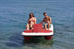 Summer Pedalo Fun Stock Photo
