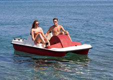 Summer Pedalo Fun Royalty Free Stock Photography