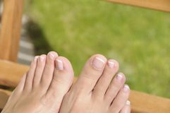 Summer pedicure Royalty Free Stock Image