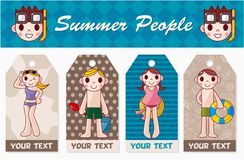Summer people card Royalty Free Stock Images