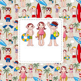Summer people card Stock Images