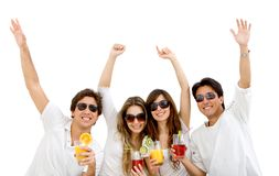 Summer people with a cocktail Royalty Free Stock Image