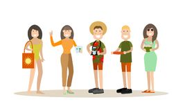 Summer people vector illustration in flat style vector illustration