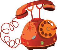 Summer phone. Cartoon Stock Images