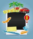 Summer photo frame. Royalty Free Stock Image