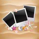 Summer photo frames Stock Image