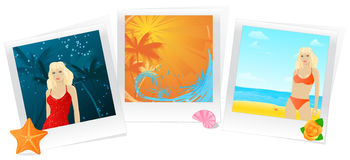 Summer photo memories collage Royalty Free Stock Images