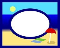 Summer photoframe. With a marine landscape stock illustration