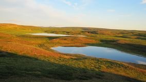 Summer photograph of the landscape of the tundra. royalty free stock photo