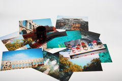 Summer photos. And film on white background, photos taken by me Royalty Free Stock Image