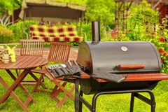 Summer Picnic in the Backyard royalty free stock photos