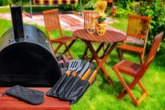 Summer Picnic in the Backyard Royalty Free Stock Photography