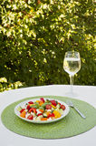 Summer Picnic Chickpea and Vegetable Salad Stock Photos