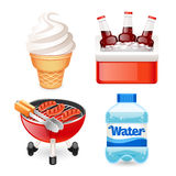 Summer Picnic Food Icons Set Royalty Free Stock Photo