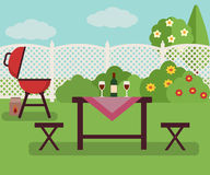 Summer picnic in garden Royalty Free Stock Image