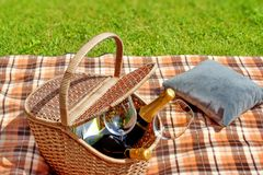 Summer Picnic on Lawn. Royalty Free Stock Image