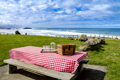 Summer Picnic at Pacific Ocean Park Royalty Free Stock Images