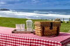 Summer Picnic at Pacific Ocean Park Stock Photo